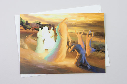 Greeting Card - Return of the Prodigal Son, Luke 15:11-31 - Ain Vares Art