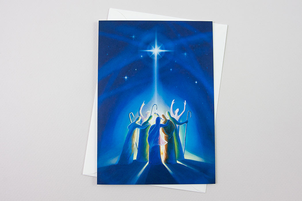 Greeting Card - Savior is born, Galatians 4:4-5 - Ain Vares Art