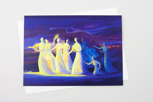 Greeting Card - The Parable of the Ten Virgins, Matthew 25:1-13 - Ain Vares Art