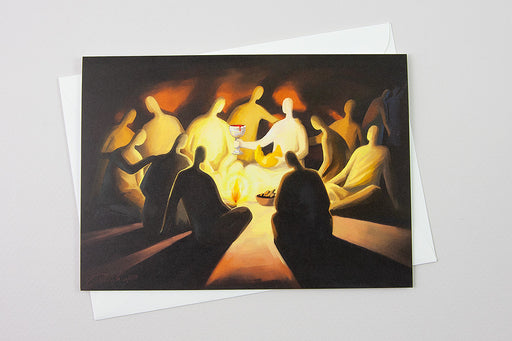 Greeting Card - The Last Supper, Luke 22:19-20 - Ain Vares Art