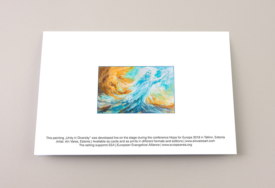 "Greeting Card ""Unity in Diversity"" 1 Corinthians 12:12-13 Ain Vares Art"