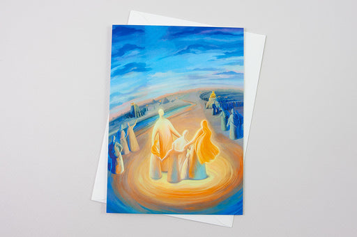 Greeting Card - But as for me and my household, we will serve the Lord, Joshua 24:15 - Ain Vares Art