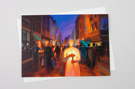 Greeting Card - Your word is a lamp to my feet and a light for my path, Psalm 119:105 - Ain Vares Art