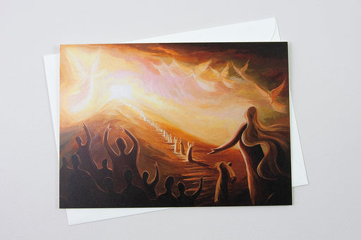 Greeting Card - Send out your light and your truth—let them lead me to your Temple on your holy mountain, Psalm 43:3-Ain Vares Art