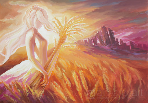 Art print - Open your eyes and look at the fields! They are ripe for harvest. John 4:35-36 - Ain Vares Art