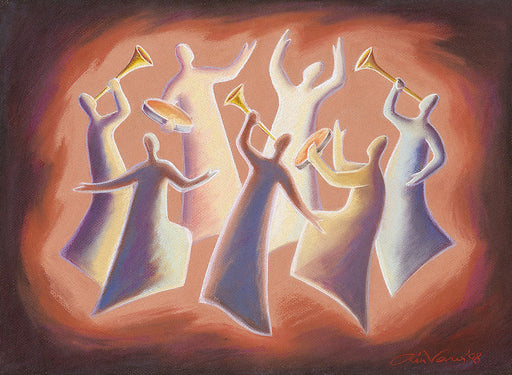 Original painting. Shout for joy to the Lord, Psalm 98, Ain Vares Art