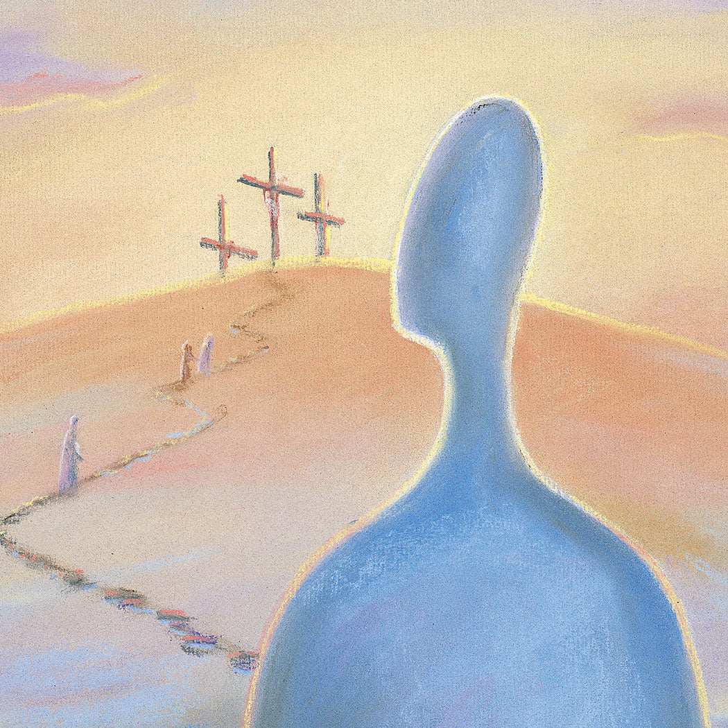 Original-Painting Take up your cross and follow Jesus Matthew 16, Ain Vares Art