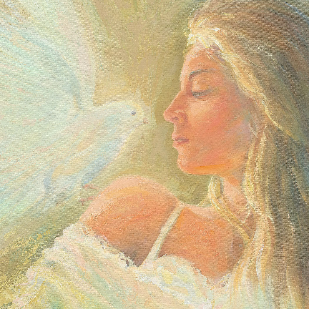 Original painting - The Wise Virgin, Matthew 25:1-13 - Ain Vares Art
