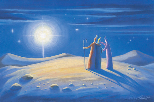 Original painting, Magi from the east, Matthew 2:1, Ain Vares Art