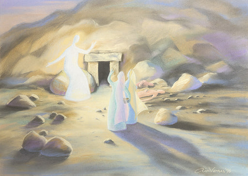 Original_Painting_Christ-is-risen_Matthew-28_Ain-Vares-Art