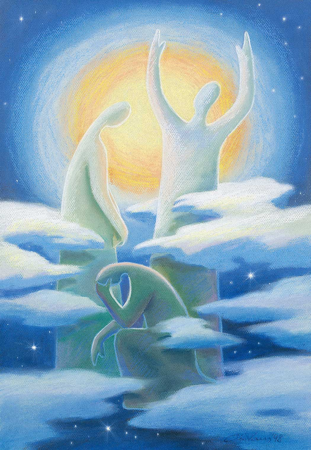 Original_Painting_Prayer_Luke-18-1_Ain-Vares-Art