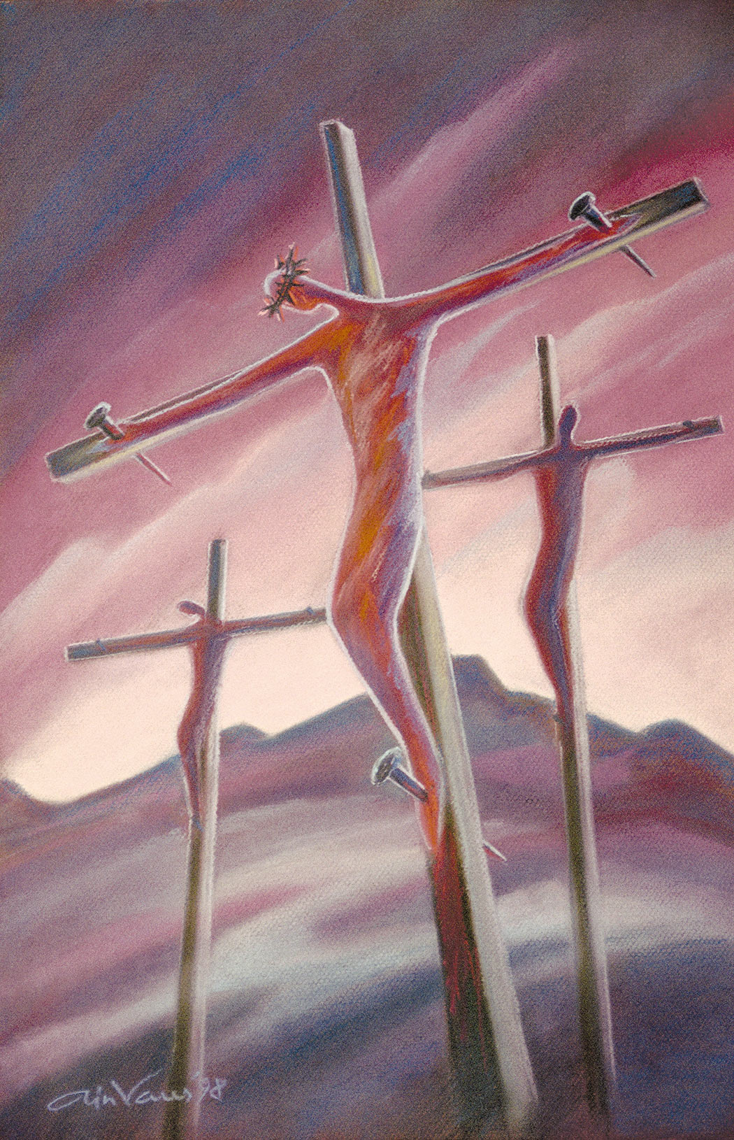 Original_Painting_The-power-of-the-cross_John-3-16_Ain-Vares-Art