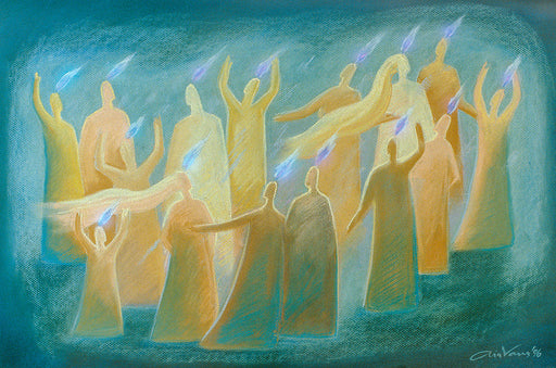Original painting. Day of pentecost. Acts 2. Ain Vares Art