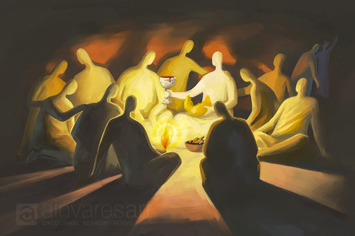 Art print - The Last Supper, Luke 22.19-20 - Ain Vares Art