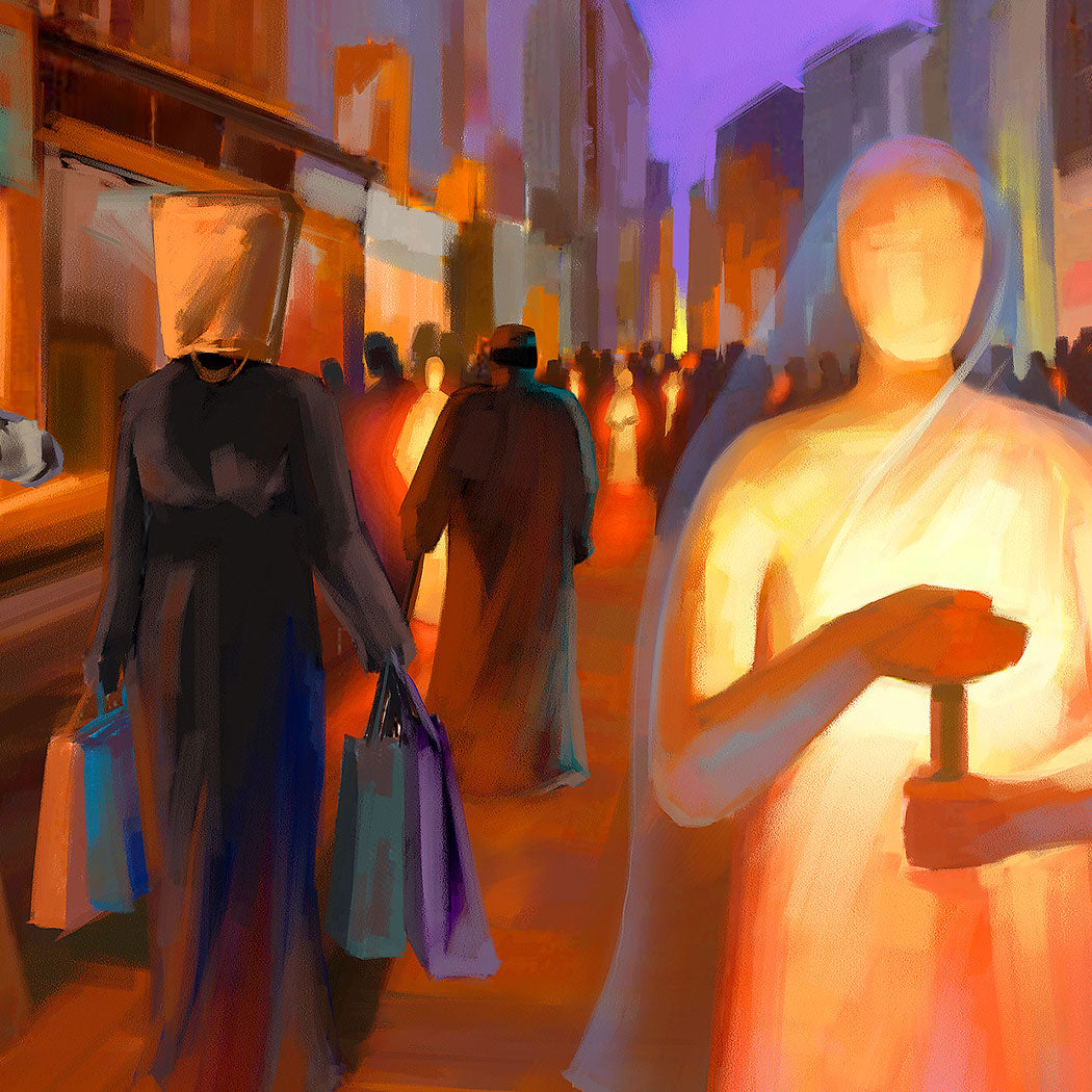 Art print - Your word is a lamp to my feet and a light for my path, Psalm 119:105 - Ain Vares Art