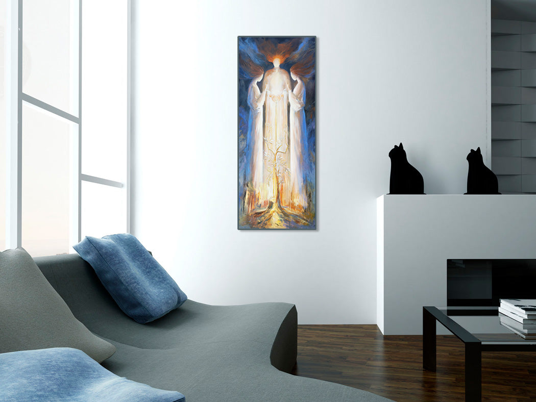 Art print - He won't brush aside the bruised and the broken, Matthew 12:20-21, Isaiah 41:9-10 - Ain Vares Art