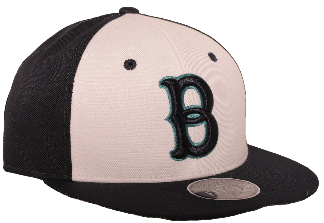 Authentic Alternate White Panel with Teal Bells Hat