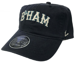 Zephyr B'HAM Navy Unstructed Dad Hat