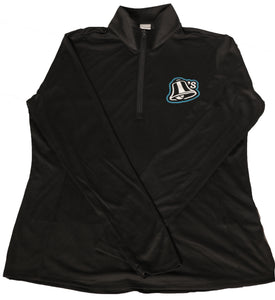 Women's Black 1/4 Zip with Bell Logo