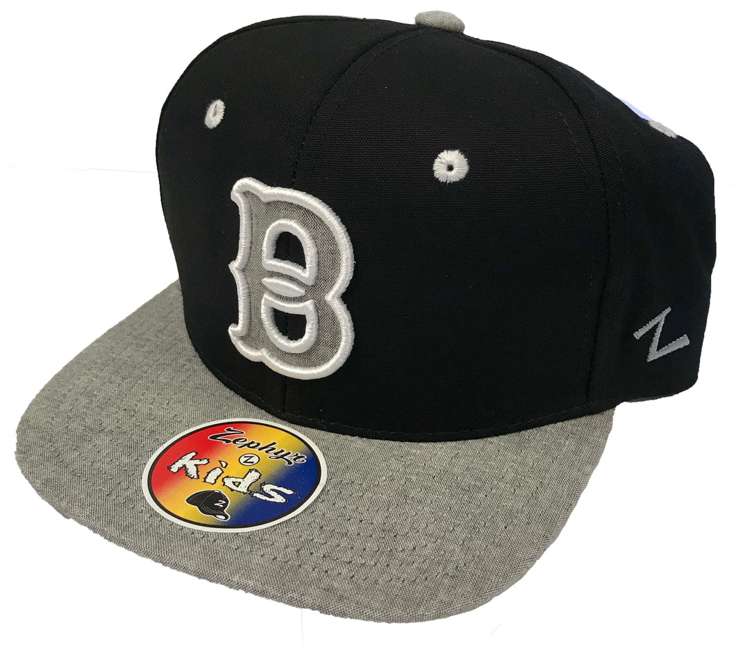 Youth Black and Gray Snapback