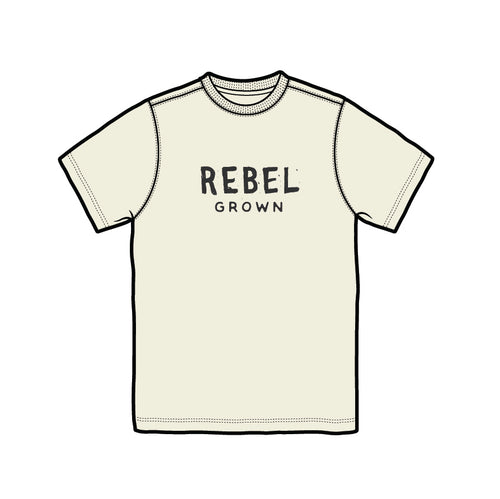 Beige With Black Rebel Grown Text Men's T