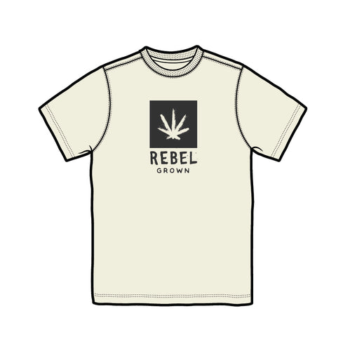 Beige With Black Rebel Grown Logo Men's T