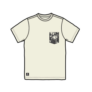 Beige Weed Leaf Pocket T  *LIMITED EDITION*