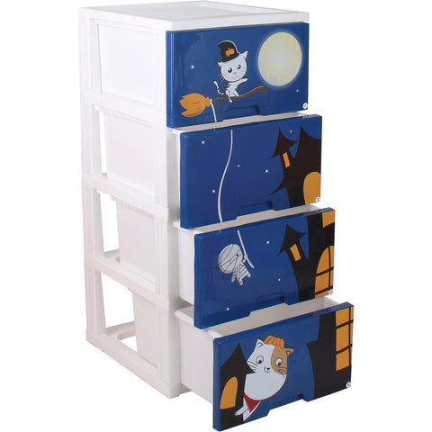 4 Tier Halloween Drawer Cabinet - 104L