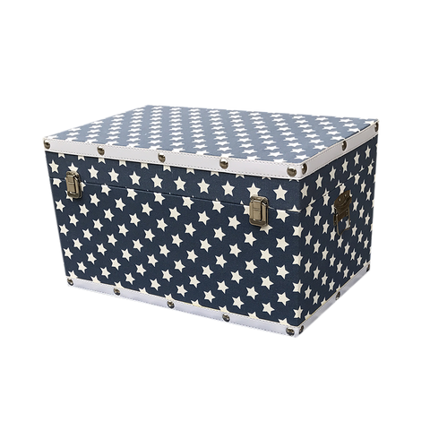 MM-1613M Wooden Trunk - Anchor (Medium) Dim: 55x32x28.5cm