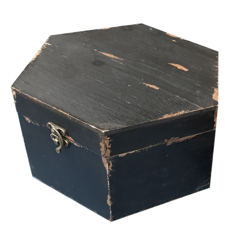 MM-16453L Wooden Box - Black (Large) Dim: 27.5x24.5x14cm