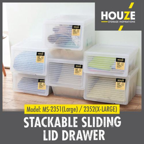 Stackable Sliding Lid Drawer (Large)
