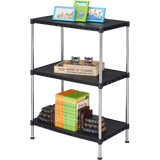 3 Tier Multi Utility Shelf - Black Plastic (60Lx35Wx150H)