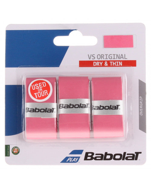 Babolat VS Original Overgrip 3pk (Pink)