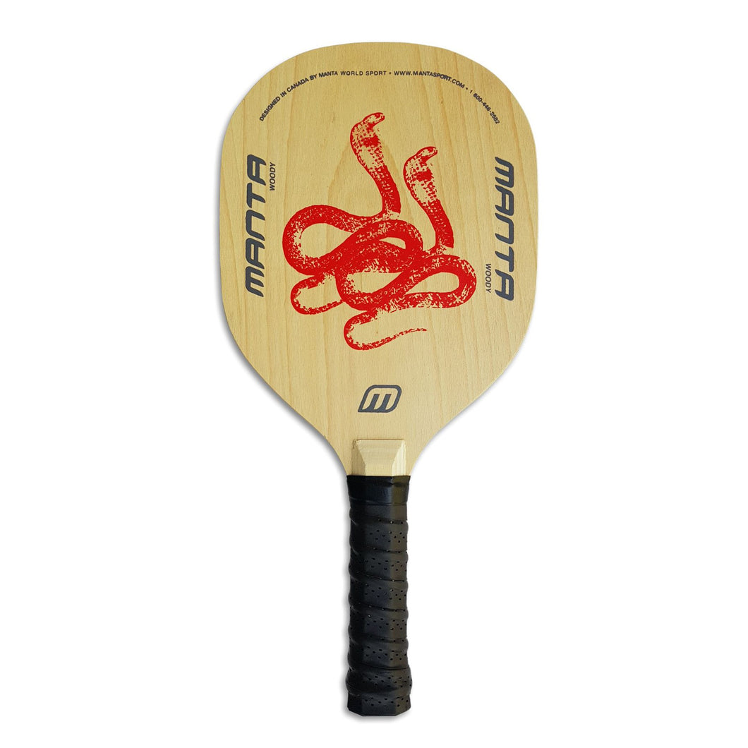 Manta Woody Pickleball Paddle + Penn 40 Ball (WPW Package)