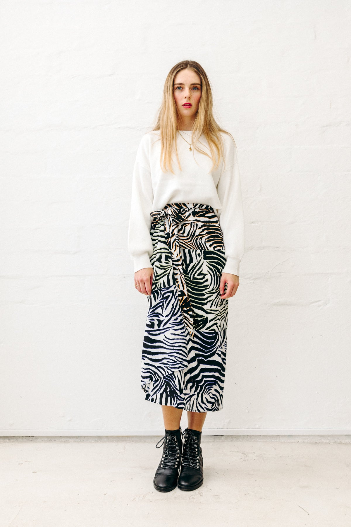 copacabana midi wrap skirt