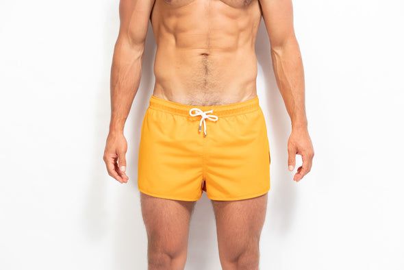 ORIGINS Model Swim Short - Solid Mustard