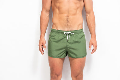 ORIGINS Model Swim Short - Solid Kaki