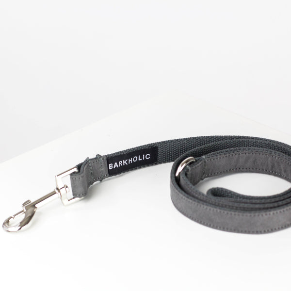 Gray Suede Leash