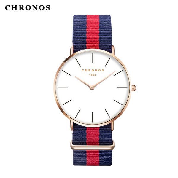 Brand CHRONOS Watches Men Women Fashion Casual Sport Clock Classical Nylon