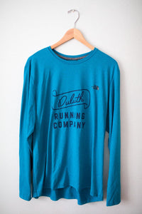 Men's North Face Vintage Duluth Running Company Long Sleeve Tech Shirt