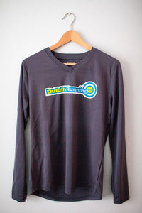 Women's Duluth Running Company V-Neck Long Sleeve Tech Shirt