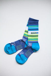 Duluth Running Company Mid Striped Sock