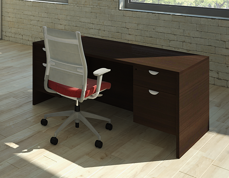 "PACKAGE PRICE! Momentum 30""x60"" Double Pedestal Desk"