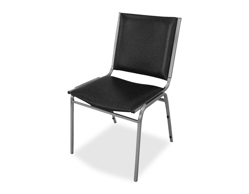 Carton of 4 Padded Armless Stacking Chair
