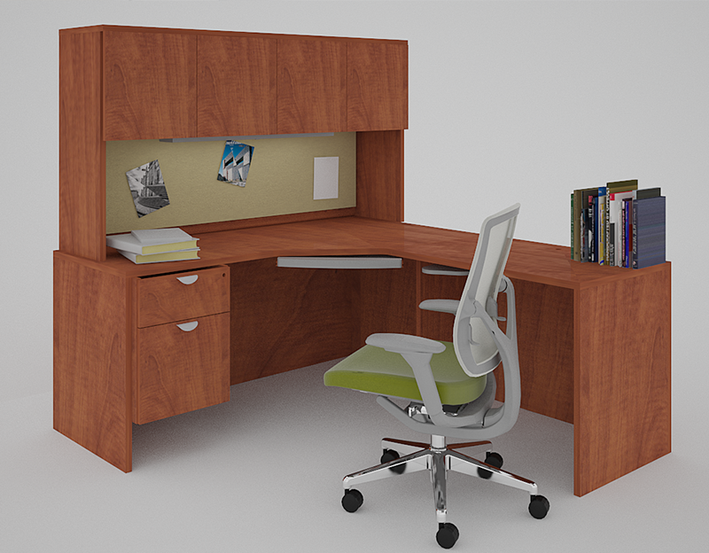 "PACKAGE PRICE! Momentum 66""x66"" Corner Workstation"