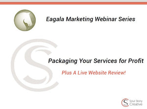 Pricing & Packaging Your Services for Profit Webinar