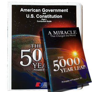The 5000 Year Leap (book) and curriculum guide & 6 DVD's in 3-ring binder.