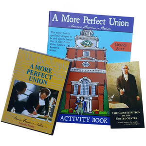 Picture of A More Perfect Union, activity book, and Pocket Constitution.