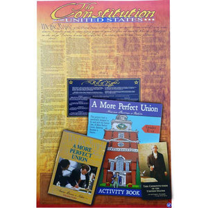 Teacher Resource Kit includes Constitution poster, DVD, activity book, and Pocket Constitution.