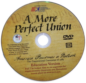 A More Perfect Union movie comes in white sleeve.